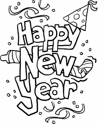 Print Out Happy New Year Coloring In Sheets