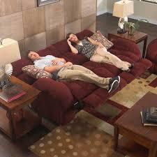 CatNapper Siesta Power Lay Flat Reclining Sofa Set Wine