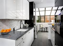 White Modern Kitchen Cabinets Contemporary With Black And