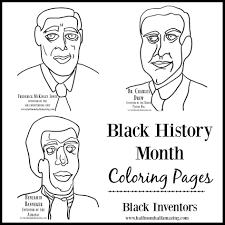 Black History Coloring Pages Month Futpal Images