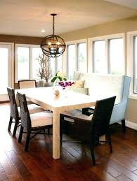 Upholstered Dining Table Bench Room With Back Upholstere