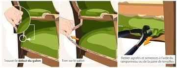retapisser un canapé retirez lancien tissu avant de recouvrir le fauteuil recouvrir un