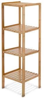 edles bambus regal mit 4 ablagen 110 x 33 x 33 cm badregal holzregal für bad wohnzimmer küche oder schlafzimmer