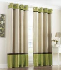 Faux Silk Eyelet Curtains by Lime Green Curtains Interior Design