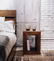 Rustic Bedroom With White Brick Walls