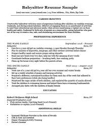 Babysitter Resume Sample Download