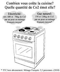 cuisiner au gaz ou à l électricité consommation de bois électricité gaz et charbon de la cuisson