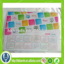 tapis de bureau personnalisé fabricant calendrier bureau tapis pour la publicité calendrier ou