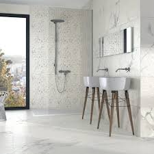 Mandalay White Rectified Porcelain Floor Tiles White Tiles