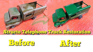 Structo Telephone Repair Truck Vintage TOY Restoration - YouTube 1950s Structo Hydraulic Toy Dump Truck Vintage Light 992 Lot 569 Toys No7 City Of Toyland Pressed Steel Utility Farm White Colored Hard Plastic Lamb Accessory Corvantics Corvair95 Vintage Structo Toys Pressed Steel Truck And Trailer Model Antique Toy Livestock Vintage Metal Toy Wrecker Truck Oilgas Red Good Hilift High Lift Lever Action Blue And Yellow 1967 Turbine 331 Auto Transporter Wcars Ramp Colctibles Signs Gas Oil Soda