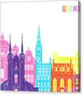 Gdansk Skyline Pop Canvas Print