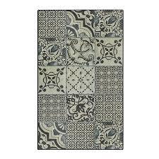 carpette de cuisine tapis de cuisine carreaux de ciment 50x80cm en vinyle