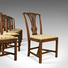 Set Of Six Antique Dining Chairs, English Victorian Chippendale ... Tiger Oak Fniture Antique 1900 S Tiger Oak Round Pedestal With Ding Chairs French Gothic Set 6 Wood Leather 4 Victorian Pressed Spindle Back Circa Room 1900s For Sale At Pamono Antique Ding Chairs Of Eight Chippendale Style Mahogany 10 Arts Crafts Seats C1900 Glagow Antiques Atlas Edwardian Queen Anne Revival Table 8 Early Sets 001940s Extendable With Ball Claw Feet Idenfication Guide