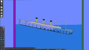 titanic sinking simulation algodoo new video updated 2012