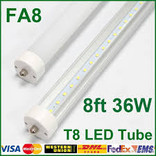 fa8 t8 led 36w 8ft single pin 2400mm ce rohs high lumens