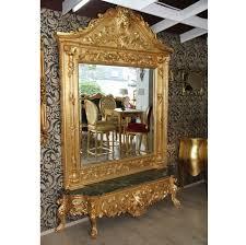 casa padrino barock gold spiegelkonsole wohnzimmer