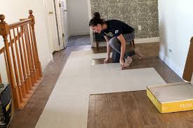 flooring wooden floor with beige flor carpet tiles and white