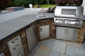 Kitchen Stone Outdoor Kitchen Counter Option With Stainless Steel