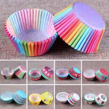 100 PCS Rainbow Cupcake Liners Baking Paper Cup Stadard Size Muffin