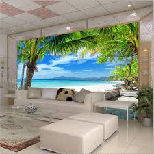 Aliexpress Buy Modern Home Custom 3D Mural Wallpape Sofa Bedroom TV Backdrop Wall Paper Painting Beach Coconut Grove From