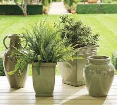 Textured Stone Planters west elm