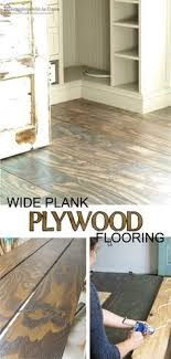 How To Install Plywood As Flooring Just On Trend With The Wide Planks And Bold Grain Patterns For DIYer