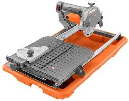 ridgid 7 inch tile saw with stand powerful heavy duty motor 120