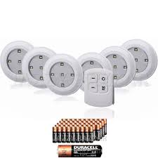 white wireless cabinet lighting battery powered lights with