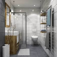 modern small bathroom with walk in shower image of