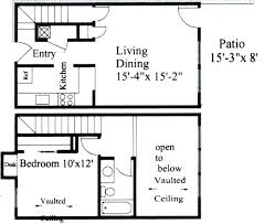 1 Bedroom Townhouse – 870 SQ FT
