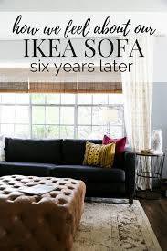 IKEA Sofa Review - 6 Years Later // Love & Renovations Us Fniture And Home Furnishings Ikea Sofa The Durable Dense Cotton Karlstad Chair Cover Replacement Is Custom Made For Armchair Sofa Slipcover Light Gray Karlstad 3 Seater Tall Chair Cover Ikea Kivik Series Review Comfort Works Blog Design Ruced Karlstad With Removable Covers Original Instruction Aflet In Temple Meads Bristol Gumtree Amazoncom Mastofcovers Snug Fit Material Slipcover Blekinge White Seater Long Skirt Masters Of Covers 5 Companies That Make It Easy To Upgrade Your White Comfortable Stylish Washable Haywards Heath West Sussex