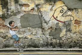 penang street art wall painting at penang onlypenang com