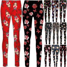 Shop Womens Christmas Leggings XXL Black Free Shipping On Orders