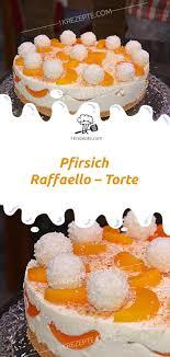 pfirsich raffaello torte 1k rezepte cupcake recipes
