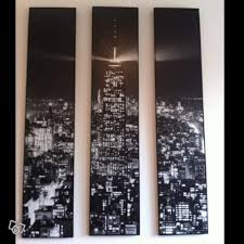tableau new york triptyque petites annonces ikea by ikeaddict