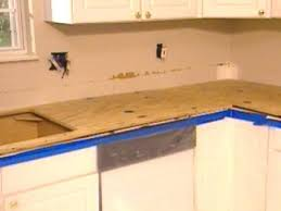 how to demolish a kitchen countertop and install backer board