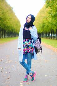 Latest Trends Of Casual Wear Hijab Styles With Jeans 2016 2017 1