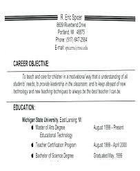 Resume Career Objective Sample Of Resumes Customer Service Job