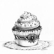 Drawn cake black and white 9