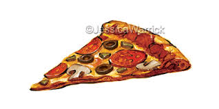 Pizza Clipart Watercolor Digital Illustration From My Downloads Store