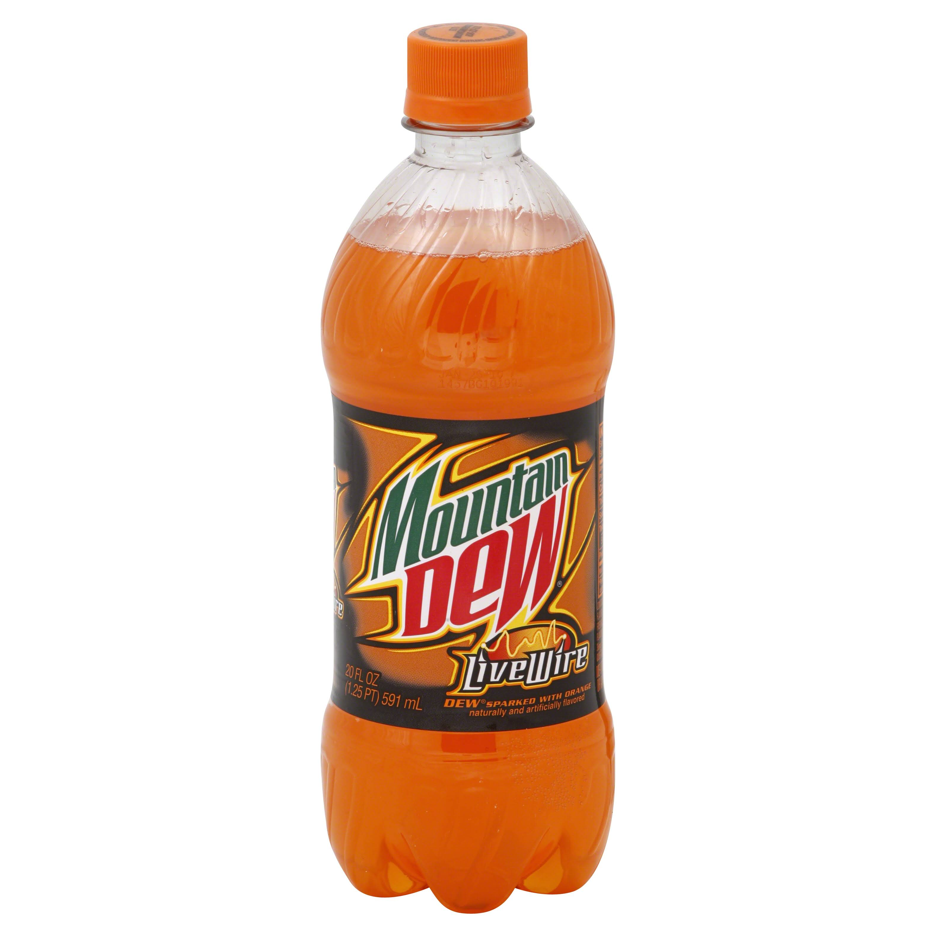 Mountain Dew Soda - Live Wire, 20oz