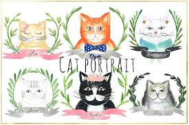 cat creator cat portrait creator illustrations creative market
