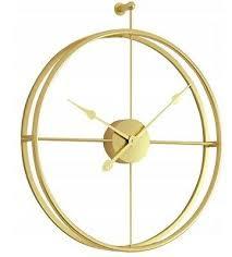 wanduhr metall rund wand uhr gold 3d metal 50 cm mcg50 g