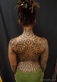 African Tribal Tattoo On Back TB1046