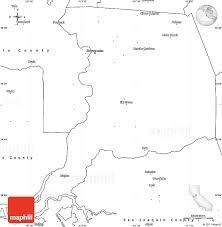 Blank Simple Map Of Sacramento County