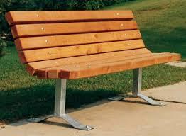outdoor park bench 3 Pinterest