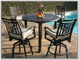 High Top Patio Furniture Sets by High Top Patio Table With Swivel Chairs Home Design Ideas