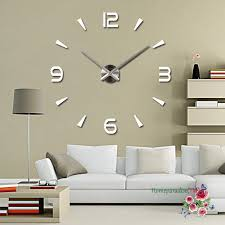 25 40 Arabic Numbers Arrows Large Hands Mirror Wall Clock