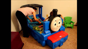 Thomas The Tank Engine Toddler Bed by Caden U0027s New Thomas Bed Youtube