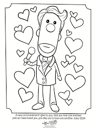 Valentines Coloring Page